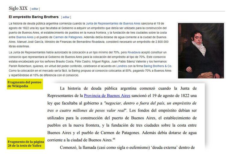 Fabiola Yañez incluyó 20 páginas de Wikipedia en su tesis - LA NACION