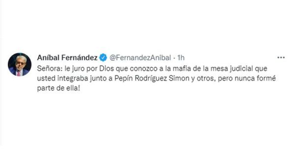 Tuit de Aníbal Fernández