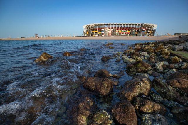 El estadio Ras Abu Aboud.