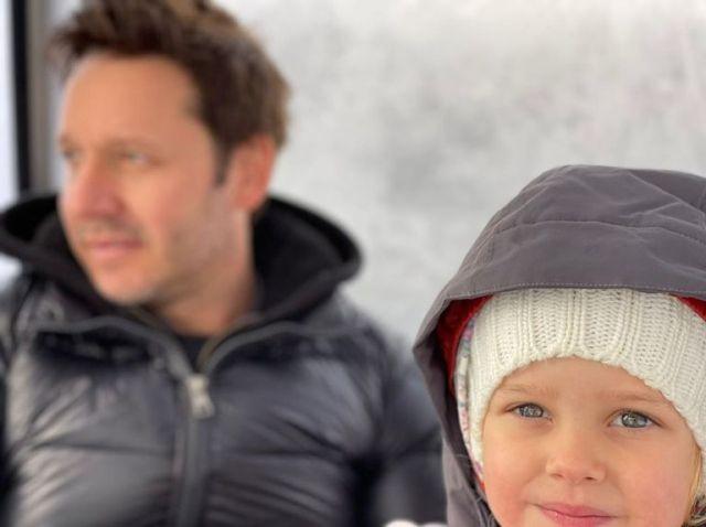 La foto que el actor chileno compartió junto a su hija en Villa La Angostura