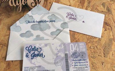 Invitaciones para bodas viajeras