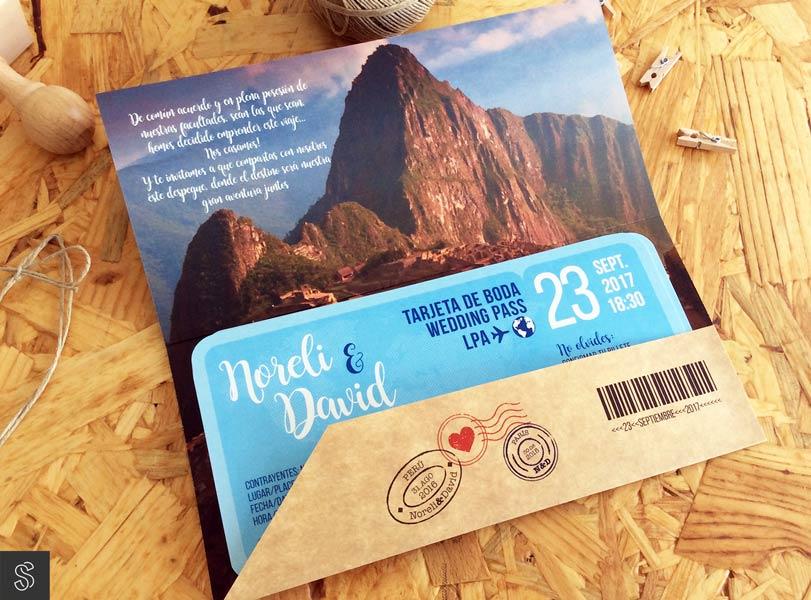 invitaciones de boda tarjeta de embarque billete de avión