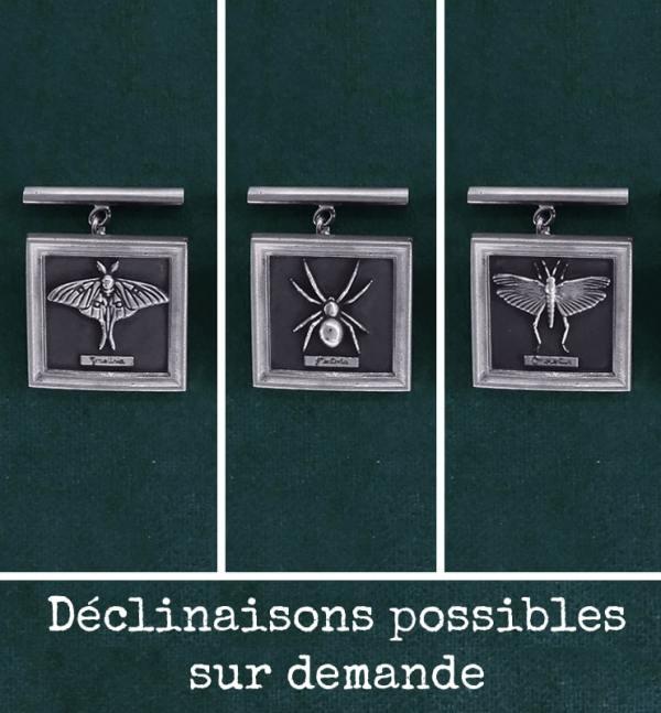 Boutons de manchettes déclinaisons possibles; papillon, araignée & criquet en argent massif