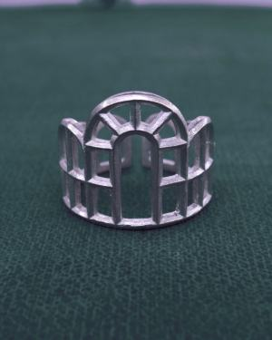 Ring inspired by l'architecture of the great greenhouses of Louis XIv at Versailles in 925 silver from France | Res Mirum