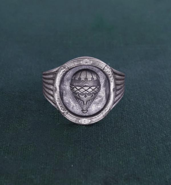 925 silver Louis XVI round Cameo ring - French craftsmanship face view | Res Mirum