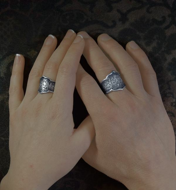 Men & women's fleur-de-lys rings inspired by l'old-fashioned spirit of 925 silver boudoirs | Res Mirum