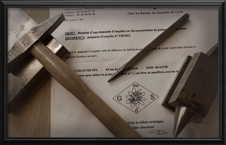 Bijoux de fabrication Française garantie par le poinçon de fabricant Res Mirum