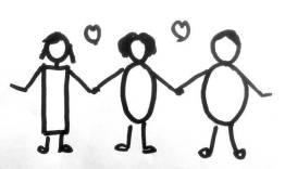 Monigotes enlazados-poligamia