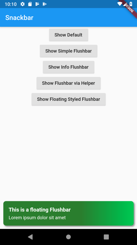 Beautiful Snackbar on Flutter (without Scaffold) – Flushbar Library