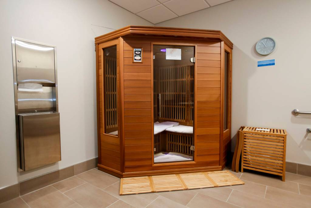 Infrared sauna at Resolution Health