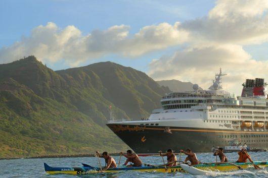 Disney Wonder in Kauai, Hawaii