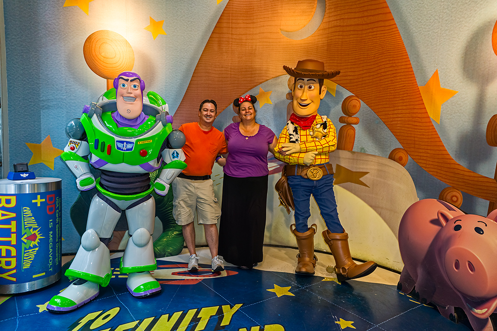 Buzz, Monico, Deb and Woody at Hollywood Studios