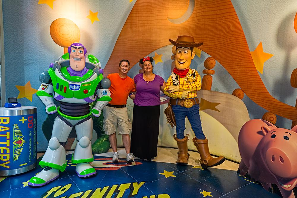 Buzz, Monico, Deb and Woody at Hollywood Studios