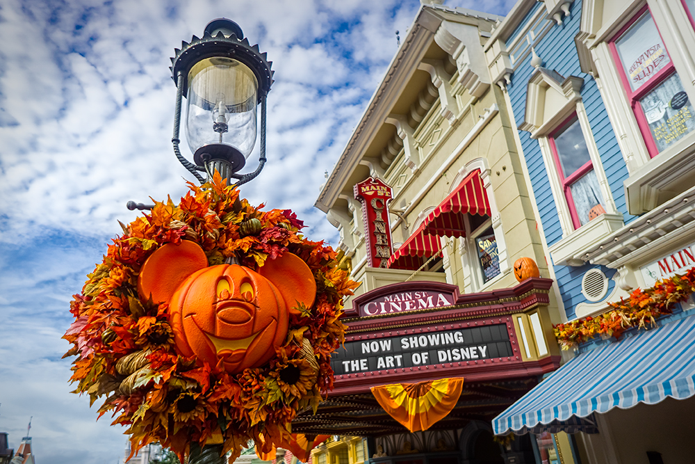 Fall Decorations in the Magic Kingdom