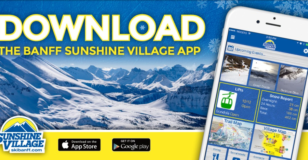 The Sunshine Village *Ski Banff* app is out