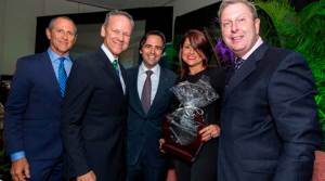 Adolfo Gonzalez (Chairman of the Awards Committee), Jose Ortiz (VP, Strategic Development, WVO), Ricardo Alvarez (President of the Builders' Association), Camille Passalaqua (Project Director, Sales, WVO) and Richard Wieczerzack (VP, Marketing and Sales, WVO).