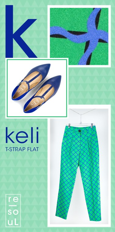 re-souL keli t-strap in saphire