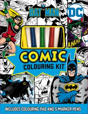 BATMAN COMIC COLOURING KIT