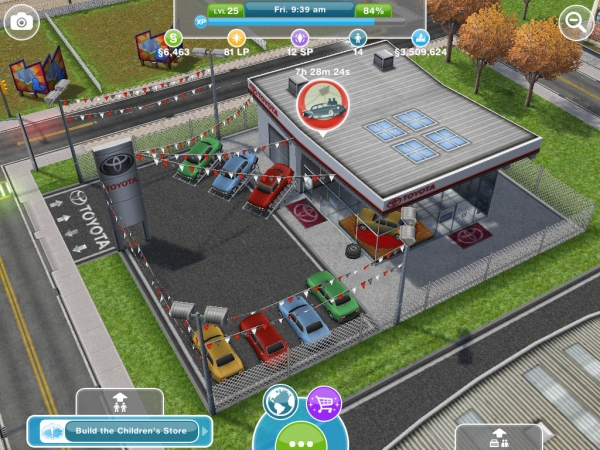 The Car Dealership The Sims FreePlay