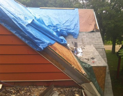 Roofing in the rain