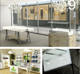 Brugnotto Shop Interiors produces beautifully executed custom fixtures and furniture from their workshops in Italy. www.shopinteriors.it
