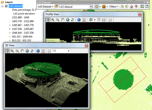 Airborne lidar data in ArcMap