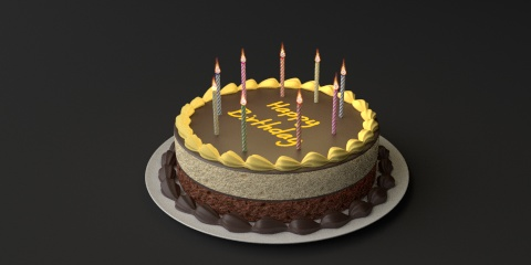 Birthday Cake Resources Free 3D Models For Blender