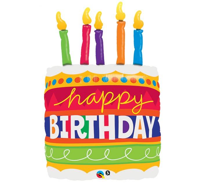 35 Happy Birthday Cake Foil Balloons Birthday Balloons B B
