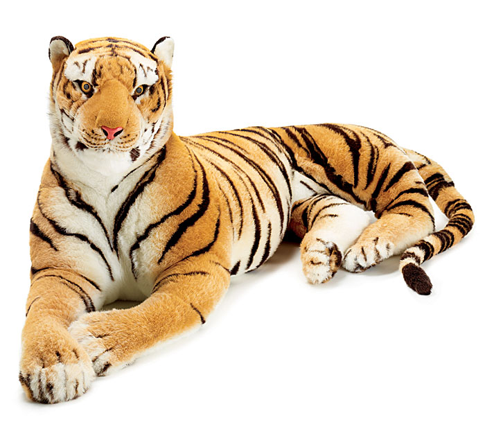 Life Sized Giant Plush Tiger At Wholesale Prices