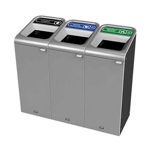 Divided Recycling Bins