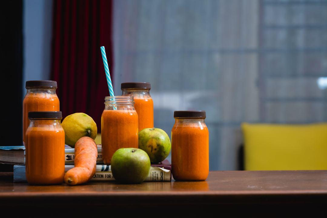 Orange Juice with fresh produce
