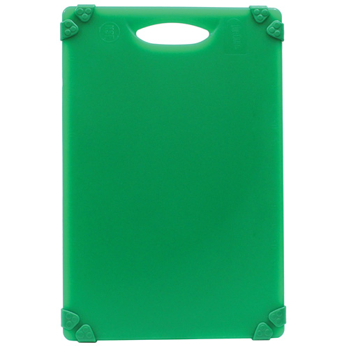 Green, color-coded cutting board for produce