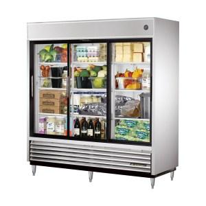 True TSD-69G-LD Sliding Glass Door Reach-In Refrigerator