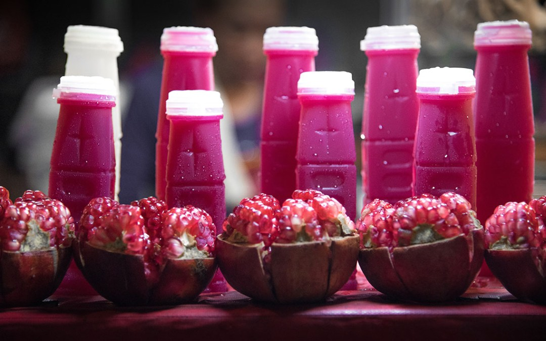 Pink Juice with Fruit