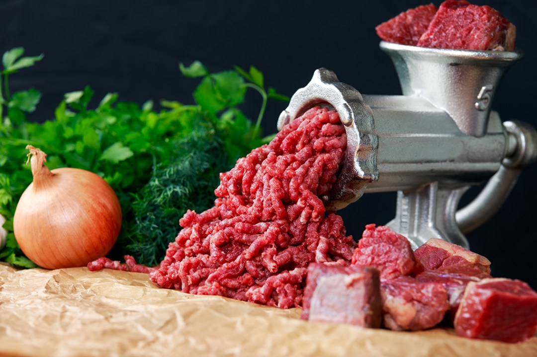 Meat Grinder with Minced Meat