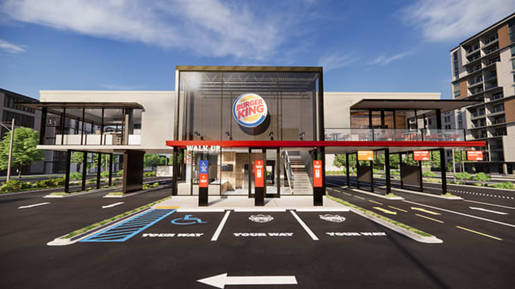 Burger King's new touchless design concept