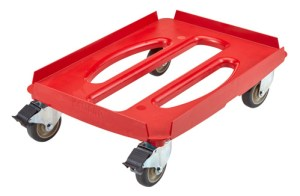 Cambro CamDolly used for transporting Cambro GoBox Carriers