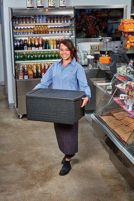 Cambro GoBox Food Pan Carriers are amazingly light and incredibly strong.