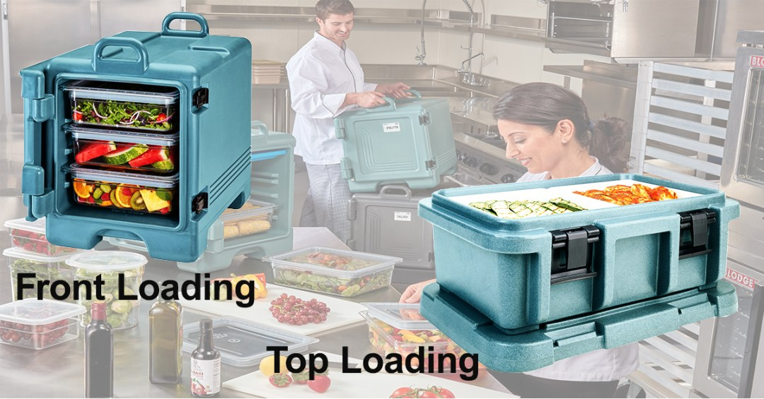 Front loading vs. top loading food pan carriers
