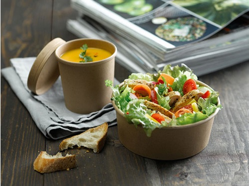 Grab-and-go soup and sandwich