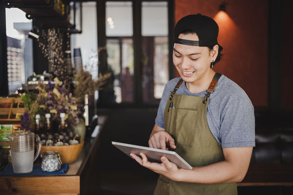 Use technology to reduce contact between guests and staff