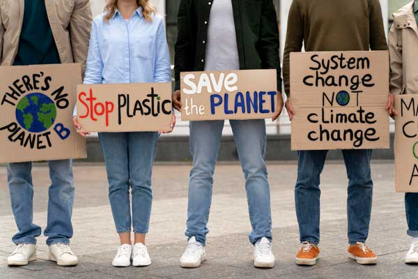 young people promoting sustainability