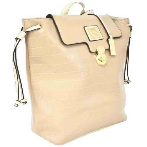 Bolsa tipo mochila Guy Laroche beige 17060