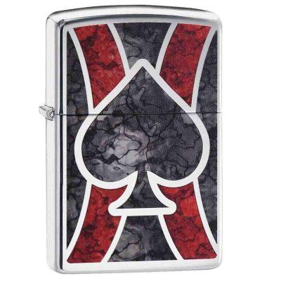 Encendedor Cromado con Diseño Zippo