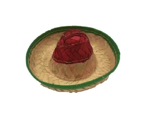 Sombrero Mexicano Para Perro Chico Fabricado En Palma