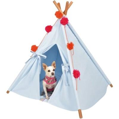Tipi (teepee) Azul para perro pequeno y mediano marca El Rebozo de Dolce