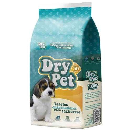 Tapetes Entrenadores Mascotas Dry Pet 50 Pzas De 56cm X 56cm Tapete entrenador