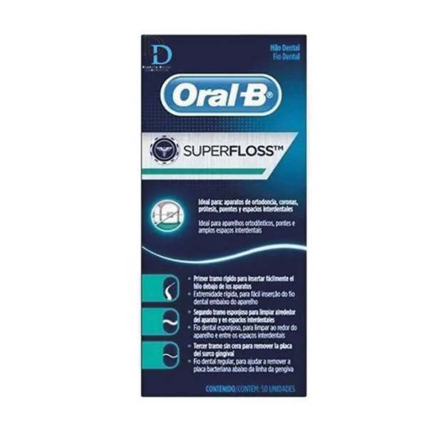 Super Floss Hilo Dental Oral B para brakets ( 7 Cajas )