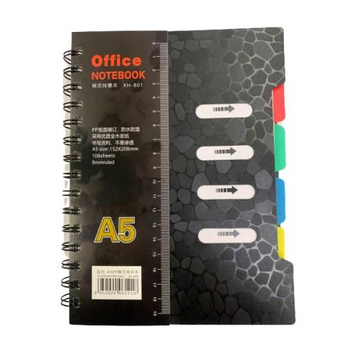 Cuaderno Con Espiral Con 4 Separadores Tamano A5