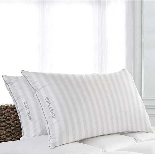 Almohada Queen Rellena de Plumas Hotel Grand 1310002 CST - Blanco